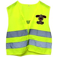 Reflective stretch vest with dog S - Children's bike accessory