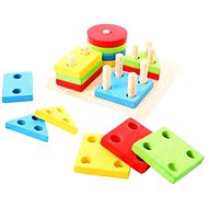 Bigjigs Wooden Toy  - Shape Peg Board - Educational toy