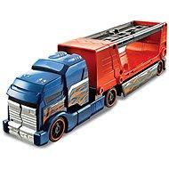 Hot Wheels Havarující tahač modro oranžový - Herní set