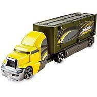 Hot Wheels Havarující tahač žluto zelený - Herní set
