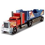 Hot Wheels Havarující tahač červeno modrý - Herní set