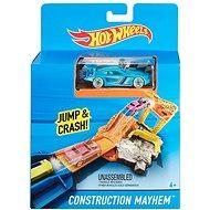Hot Wheels Dráha do kapsy Construction Mayhem - Herní set