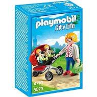 Playmobil 5573 Kočárek pro dvojčata - Stavebnice