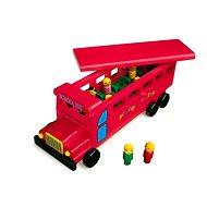 Dřevěný školní autobus - Dřevěný model