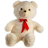 Medvěd s mašlí - béžový - Plyšový medvěd