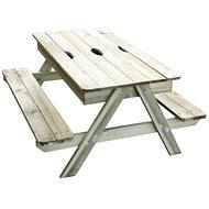 Stoleček s 2 lavicemi PIC-NIC s uložným prostorem - Dětský nábytek