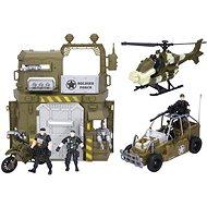 Wiky Vojenský set s autem a vrtulníkem - Sada