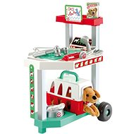 Ecoiffier Vozík pro veterináře s pejskem - Tematická sada hraček