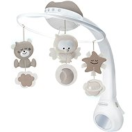 Music Carousel with Projection 3-in-1 Ecru - Cot Toy