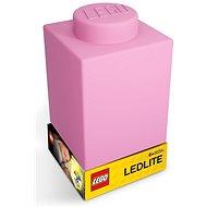 LEGO Classic Silikonová kostka -  růžová - Noční světlo