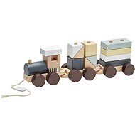 Kids Concept Wooden Block Train - Game Set
