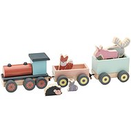 Edvin Wooden Train with Animals - Game Set