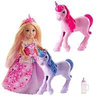 Barbie Princezna Chelsea a hříbátko jednorožce - Panenka