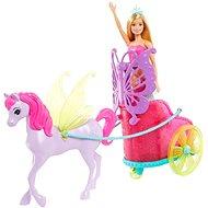 Barbie Princezna v kočáru a pohádkový kůň - Panenka
