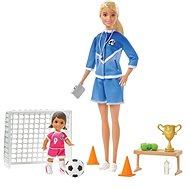 Barbie Fotbalová trenérka s panenkou herní set Blondýnka - Panenka