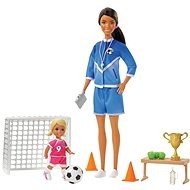 Barbie Fotbalová trenérka s panenkou herní set Černoška - Panenka