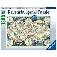 Ravensburger 160037 Světová mapa fantastických zvířat - Puzzle