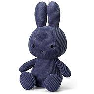 Miffy Sitting Corduroy Blue 33cm - Plush Toy
