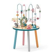 Dřevěný hrací stoleček s labyrintem