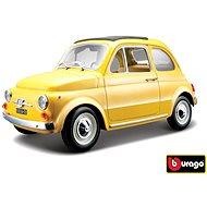 Bburago Fiat 500 F 1965 Yellow - Model