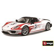 Bburago Race Porsche 918 Weissach White - Model