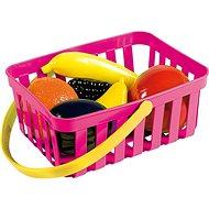 Androni Nákupní košík s ovocem - 6 kusů, růžový - Set