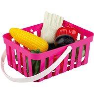 Androni Nákupní košík se zeleninou - 10 kusů, růžový - Set