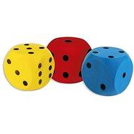 Míč pro děti Androni Kostka měkká - velikost 16 cm, modrá