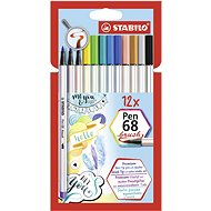 Stabilo Pen 68 brush 12 barev