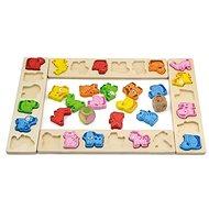 Dřevěná hra - karneval zvířátek - Didaktická hračka