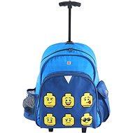 Batoh na kolečkách LEGO Faces Blue - Trolley - Batoh