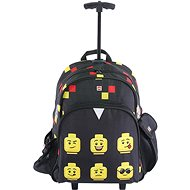 Batoh na kolečkách LEGO Faces Black - Trolley - Batoh