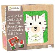 Avenue Mandarine Dřevěné kostky Zvířátka - Dětská hra