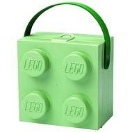 LEGO box s rukojetí - army zelená - Svačinový box