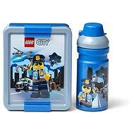 LEGO City svačinový set (láhev a box) - modrá