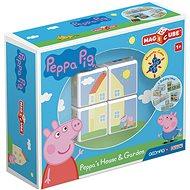 Magicube Peppa Pig Peppa´s House & Garden - Magnetická stavebnice