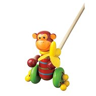 Chodící opice - Dřevěná hračka