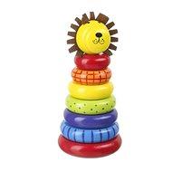 Můj první kroužkový lev - Dřevěná hračka