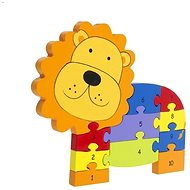 Puzzle with numbers -Lev - Wooden Puzzle