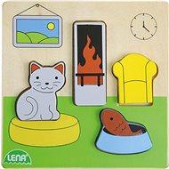 Dřevěné puzzle, obývací pokoj - Dřevěné Puzzle