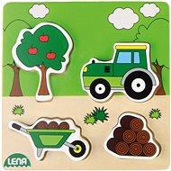 Dřevěné puzzle, traktor - Dřevěné Puzzle