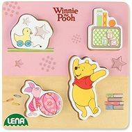 Dřevěné puzzle Winnie the Pooh, prasátko a Pooh - Dřevěné Puzzle
