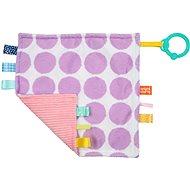 Hrací deka Dečka mazlící  Little Taggies fialové tečky