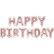 Foil balloon, 340x35cm, Happy Birthday, pink - Balloons