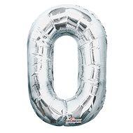 """Foliový balónek, 35cm, číslice """"0"""", stříbrný - Balonky"""