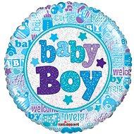 Foliový balónek, 45cm, kruh, baby boy - Balonky
