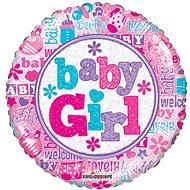 Foliový balónek, 45cm, kruh, baby girl - Balonky