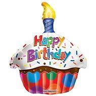 Foliový balónek, 46cm, cupcake Happy Birthday - Balonky