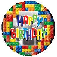 Foliový balónek, 46cm, lego Happy Birthday - Balonky