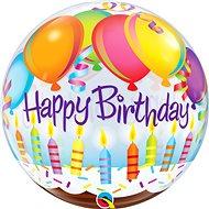 Foliový balónek, 56cm, plastový, Happy Birthday - Balonky